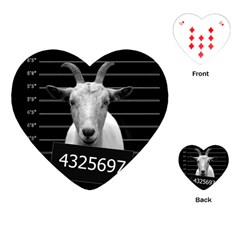 Criminal Goat  Playing Cards (heart)  by Valentinaart
