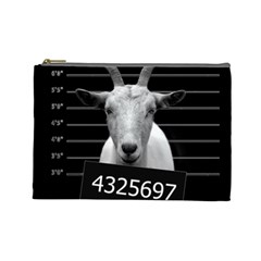 Criminal Goat  Cosmetic Bag (large)  by Valentinaart