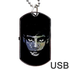 Wild Child  Dog Tag Usb Flash (two Sides) by Valentinaart