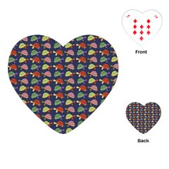 Turtle Pattern Playing Cards (heart)  by Valentinaart