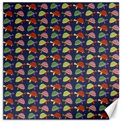Turtle Pattern Canvas 16  X 16   by Valentinaart