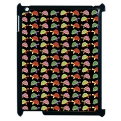 Turtle Pattern Apple Ipad 2 Case (black) by Valentinaart