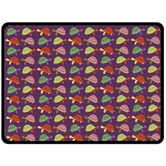 Turtle Pattern Double Sided Fleece Blanket (large)  by Valentinaart