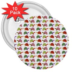 Turtle Pattern 3  Buttons (10 Pack)  by Valentinaart