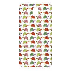 Turtle Pattern Samsung Galaxy Note 3 N9005 Hardshell Back Case by Valentinaart