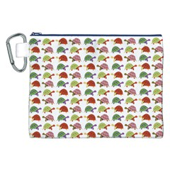 Turtle Pattern Canvas Cosmetic Bag (xxl) by Valentinaart