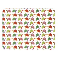 Turtle Pattern Double Sided Flano Blanket (large)  by Valentinaart