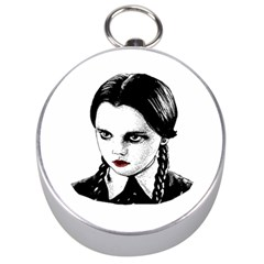 Wednesday Addams Silver Compasses by Valentinaart