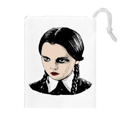 Wednesday Addams Drawstring Pouches (extra Large) by Valentinaart