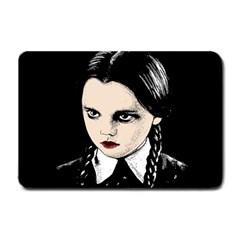 Wednesday Addams Small Doormat  by Valentinaart