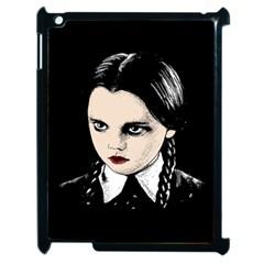 Wednesday Addams Apple Ipad 2 Case (black) by Valentinaart