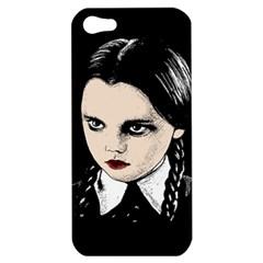 Wednesday Addams Apple Iphone 5 Hardshell Case by Valentinaart