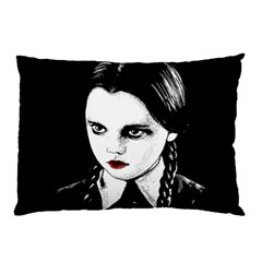 Wednesday Addams Pillow Case by Valentinaart