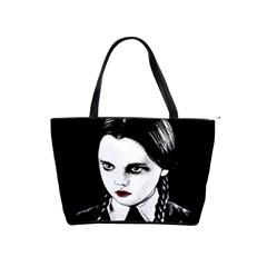 Wednesday Addams Shoulder Handbags by Valentinaart
