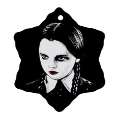 Wednesday Addams Ornament (snowflake) by Valentinaart