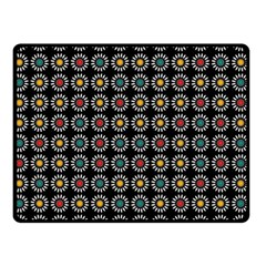 White Daisies Pattern Double Sided Fleece Blanket (small)  by linceazul