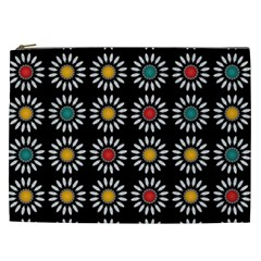 White Daisies Pattern Cosmetic Bag (xxl)  by linceazul