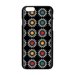 White Daisies Pattern Apple Iphone 6/6s Black Enamel Case by linceazul