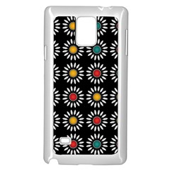 White Daisies Pattern Samsung Galaxy Note 4 Case (white) by linceazul