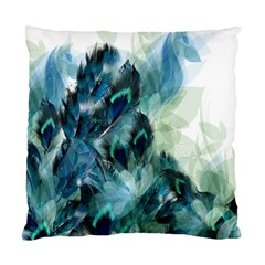 Flowers And Feathers Background Design Standard Cushion Case (two Sides) by TastefulDesigns