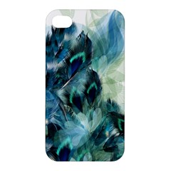 Flowers And Feathers Background Design Apple Iphone 4/4s Hardshell Case by TastefulDesigns
