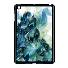 Flowers And Feathers Background Design Apple Ipad Mini Case (black) by TastefulDesigns