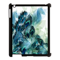 Flowers And Feathers Background Design Apple Ipad 3/4 Case (black) by TastefulDesigns