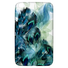 Flowers And Feathers Background Design Samsung Galaxy Tab 3 (8 ) T3100 Hardshell Case  by TastefulDesigns