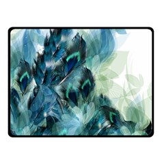 Flowers And Feathers Background Design Double Sided Fleece Blanket (small)  by TastefulDesigns