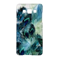 Flowers And Feathers Background Design Samsung Galaxy A5 Hardshell Case  by TastefulDesigns