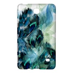 Flowers And Feathers Background Design Samsung Galaxy Tab 4 (8 ) Hardshell Case  by TastefulDesigns
