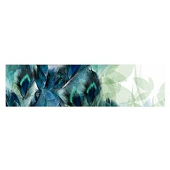 Flowers And Feathers Background Design Satin Scarf (oblong) by TastefulDesigns