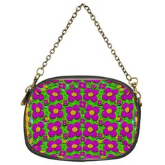 Bohemian Big Flower Of The Power In Rainbows Chain Purses (one Side)  by pepitasart