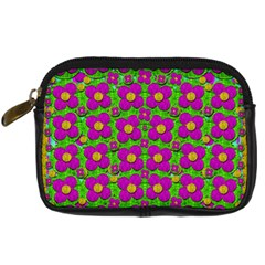Bohemian Big Flower Of The Power In Rainbows Digital Camera Cases by pepitasart