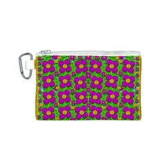 Bohemian Big Flower Of The Power In Rainbows Canvas Cosmetic Bag (s) by pepitasart