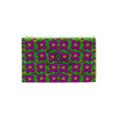 Bohemian Big Flower Of The Power In Rainbows Cosmetic Bag (xs) by pepitasart