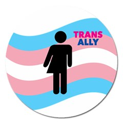 Transgender  Magnet 5  (round) by Valentinaart
