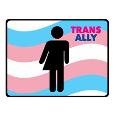 Transgender  Fleece Blanket (small) by Valentinaart
