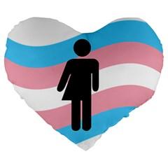 Transgender  Large 19  Premium Heart Shape Cushions by Valentinaart