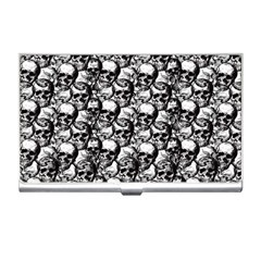 Skulls Pattern  Business Card Holders by Valentinaart