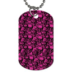 Skulls Pattern  Dog Tag (two Sides) by Valentinaart