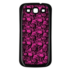 Skulls Pattern  Samsung Galaxy S3 Back Case (black) by Valentinaart