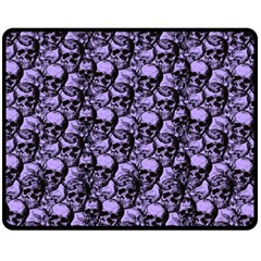 Skulls Pattern  Fleece Blanket (medium)  by Valentinaart