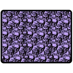 Skulls Pattern  Double Sided Fleece Blanket (large)  by Valentinaart
