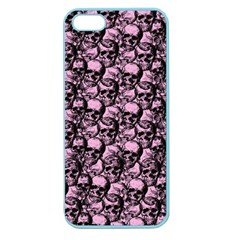 Skulls Pattern  Apple Seamless Iphone 5 Case (color) by Valentinaart