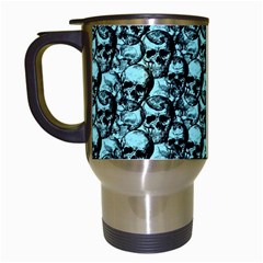 Skulls Pattern  Travel Mugs (white) by Valentinaart