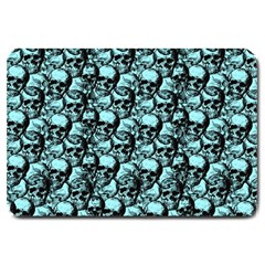 Skulls Pattern  Large Doormat  by Valentinaart