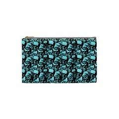 Skulls Pattern  Cosmetic Bag (small)  by Valentinaart