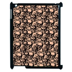 Skulls Pattern  Apple Ipad 2 Case (black) by Valentinaart