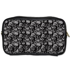 Skulls Pattern  Toiletries Bags 2 Side by Valentinaart
